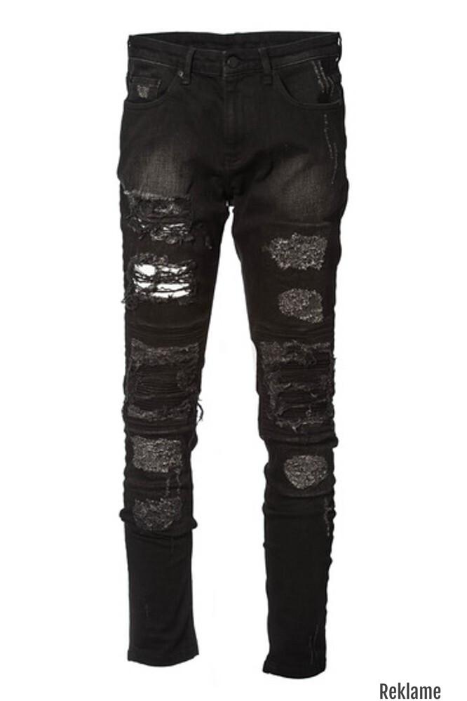 Ripped Black Biker Jeans