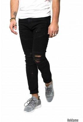 black biker jeans ripped